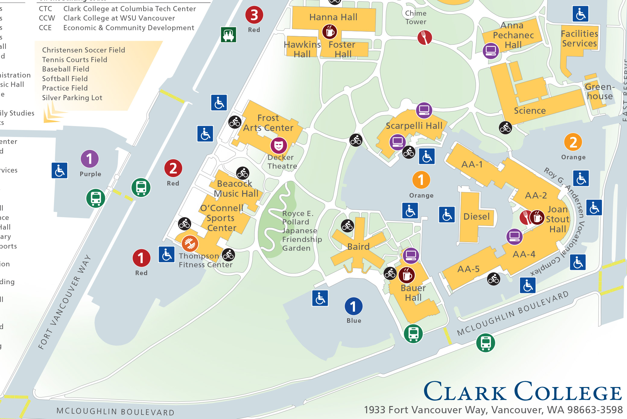 Clark College Campus Map | compressportnederland